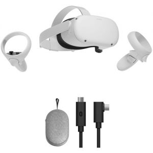 Oculus Quest 2 Advanced All-in-One VR Headset with Carrying Case & Link Cable Kit (64GB)