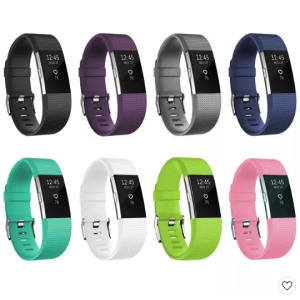 For Fitbit Charge 2 Band Replacement TPU Sport Wristband Strap