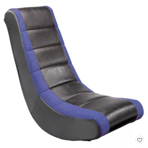Video Rocker Gaming Chair Black/Blue - The Crew Furniture