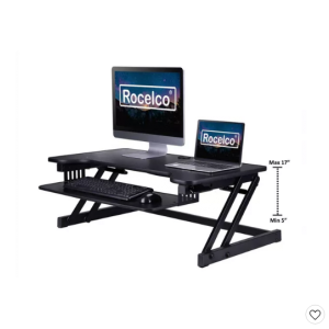 Deluxe Height Adjustable Sit to StandDesk Computer Riser Rocelco