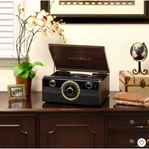 Victrola Wood Metropolitan Bluetooth Record Player with 3-speed