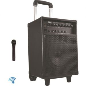 Pyle Pro 400W Rechargeable Bluetooth PA System with Wireless Microphone