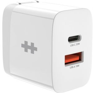 HYPER HyperJuice 20W Dual USB Type-C & USB Type-A AC Charger
