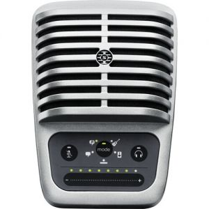 Shure MOTIV MV51 Large-Diaphragm Cardioid USB Microphone for Computers and iOS Devices (New Packaging, Silver)