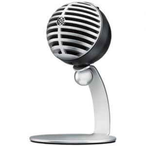 Shure MOTIV MV5 Cardioid USB/Lightning Microphone for Computers and iOS Devices (Old Packaging, Gray/Black Foam)
