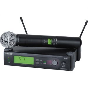 Shure SLX24/SM58 Wireless Handheld Microphone System with SM58 Capsule (H5: 518 to 542 MHz)