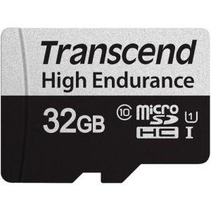 Transcend 32GB High Endurance 350V UHS-I microSDHC Memory Card