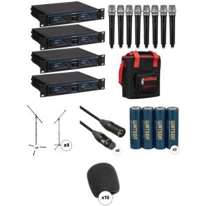 VocoPro UDH-CHOIR-8 Handheld Wireless Microphone System Complete Package Kit