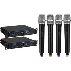 VocoPro UDH-CHOIR-4 UHF Handheld Wireless Microphone Package (900 MHz Band)