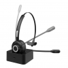 MEE audio - Bluetooth Wireless Headset with Boom Microphone and Charging Dock
