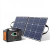 200W Portable Power Station, FlashFish 40800mAh Solar Generator with 50W 18V Portable Solar Panel