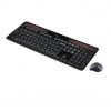 Logitech - Wireless Combo MK750 Keyboard and Laser Mouse - Black