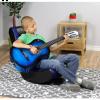 Video Rocker Gaming Chair Black/Blue - The Crew Furniture