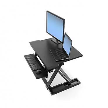 Ergotron WorkFit-TX - standing desk converter - rectangular - black