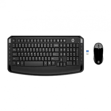 HP 300 - keyboard and mouse set - black